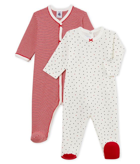 Baby Girls' Sleepsuit - Set of 2 . set