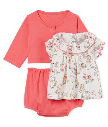 Baby girls' print clothing - 3-piece set