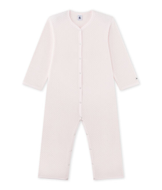 Little girl's onesie Vienne pink / Mistigri grey