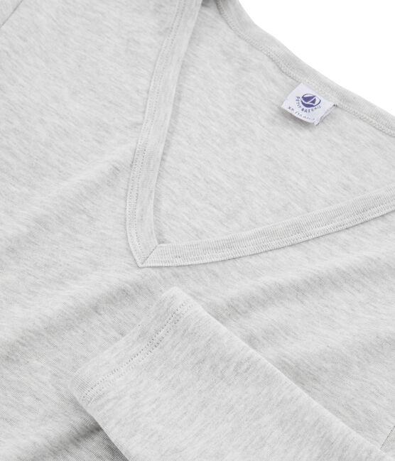 Women's Long-Sleeved Iconic T-Shirt Beluga grey
