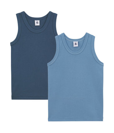 Little boy's vest top duo