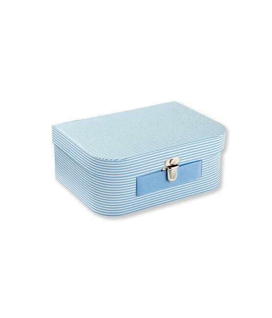 Multi-use milleraies striped case Fraicheur blue / Ecume white