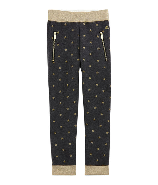 Girl's trousers City black / Dore yellow