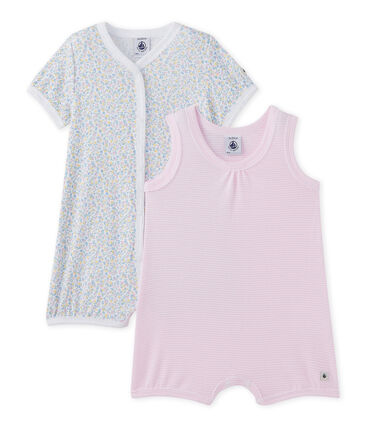 Set of 2 baby girl's rompers . set