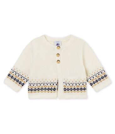 Baby boy's cardigan in knit jacquard