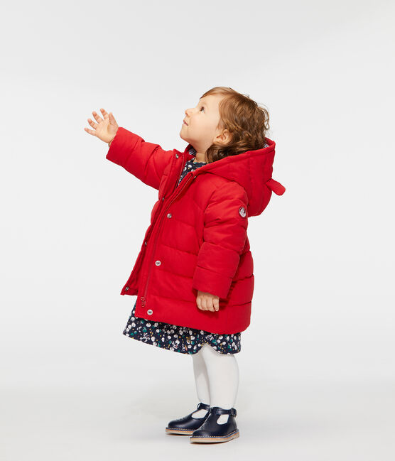 Baby Girls' Microfibre Down Jacket Terkuit red