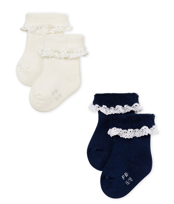 Baby girls' socks - 2-pack . set