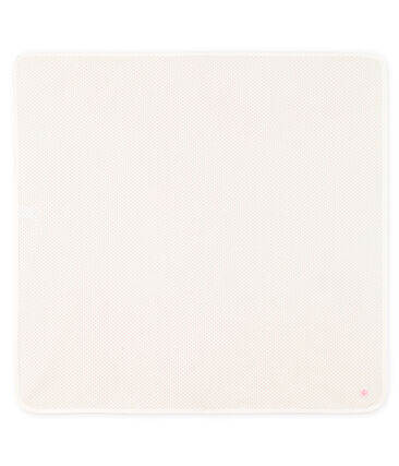 Babies' Ribbed Maternity Blanket Marshmallow white / Charme pink