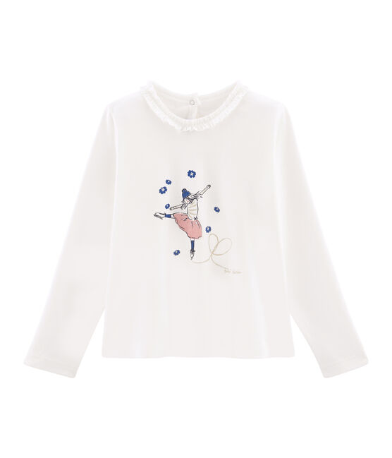 Girls' Long-sleeved T-Shirt Marshmallow white