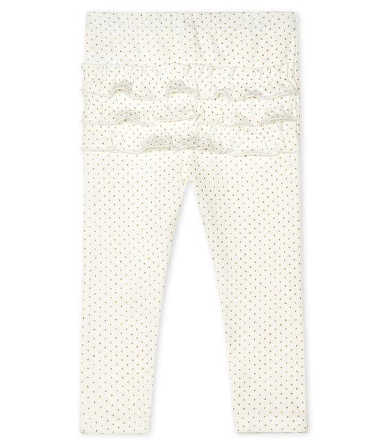 Baby Girls' Print Leggings Marshmallow white / Or yellow