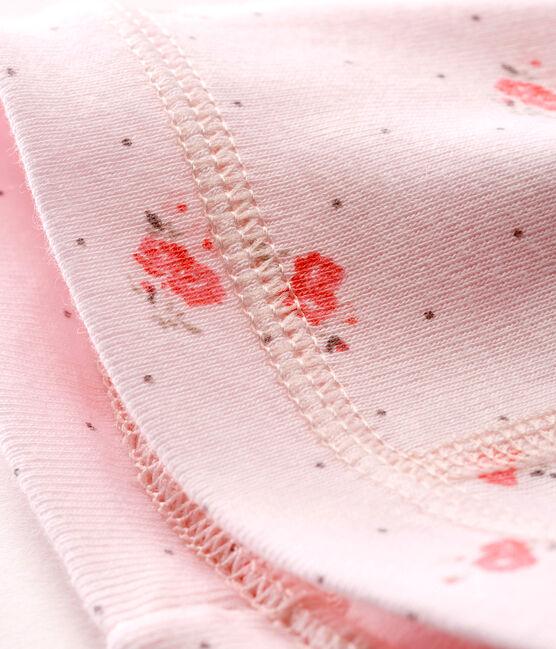 Unisex newborn baby printed bonnet Vienne pink / Multico Cn white