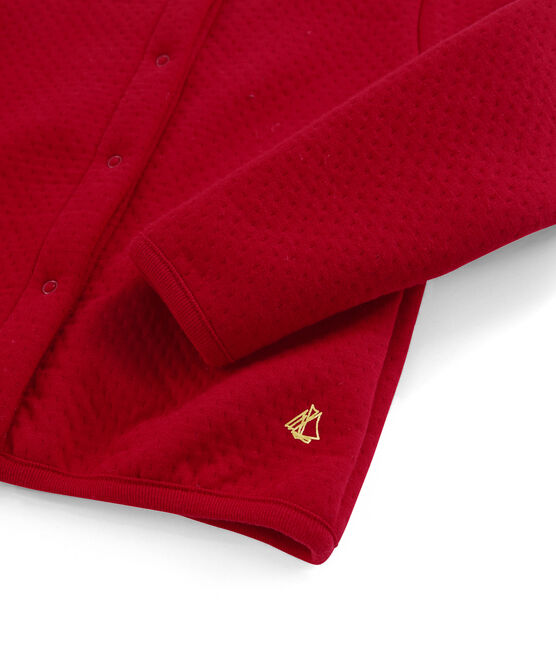 Girls' Cardigan Terkuit red