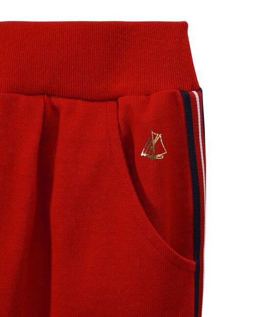 Girl's knit pants Terkuit red