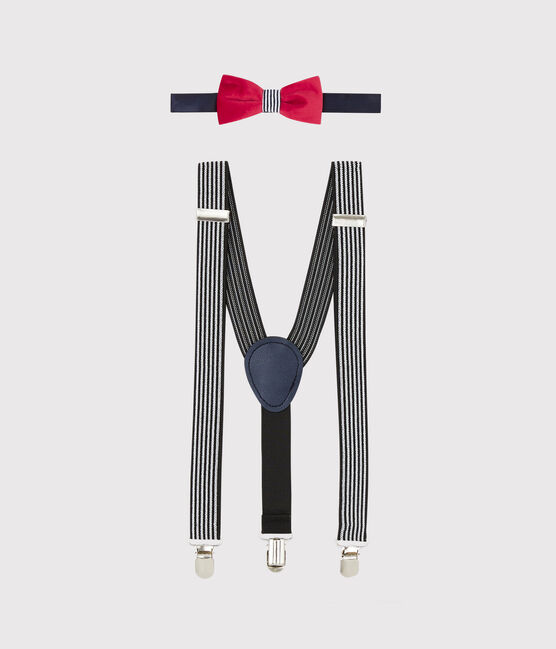 Braces and bow tie set SMOKING/MARSHMALLOW/TERKUIT