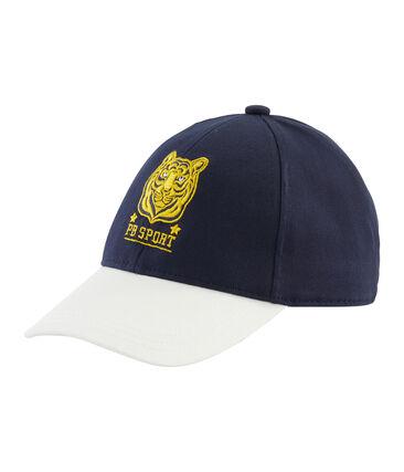 Twill cap for boys Marshmallow white / Smoking blue