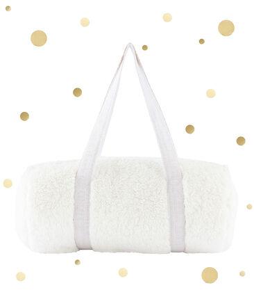 Duffle bag in sherpa Marshmallow white