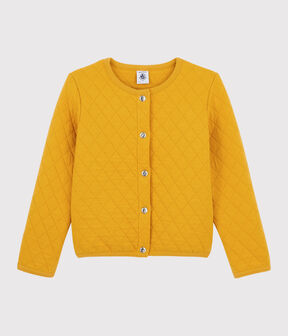 Girls' Tubular Knit Cardigan Boudor yellow
