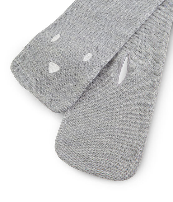 Unisex Baby Scarf Subway grey