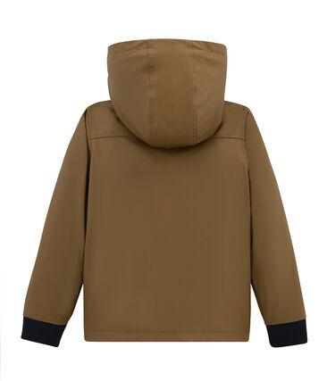 Warm raincoat with sweatshirt lining