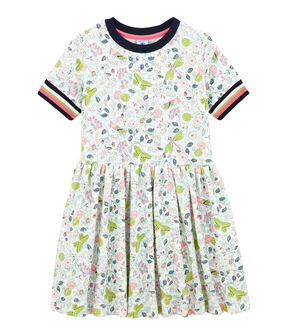 Girls' Dress Marshmallow white / Multico white