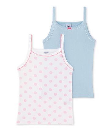 Pack of 2 girl's strap vests