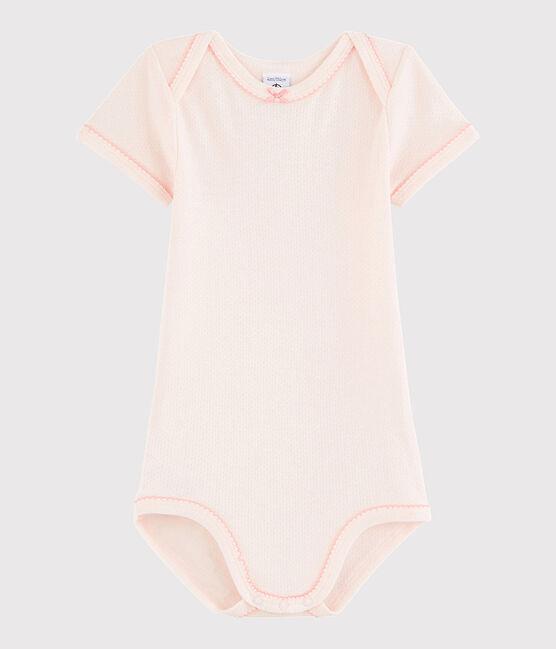 Baby Girls' Short-Sleeved Bodysuit Fleur pink