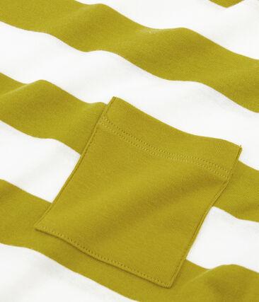 Men's short-sleeved t-shirt Bamboo yellow / Marshmallow white