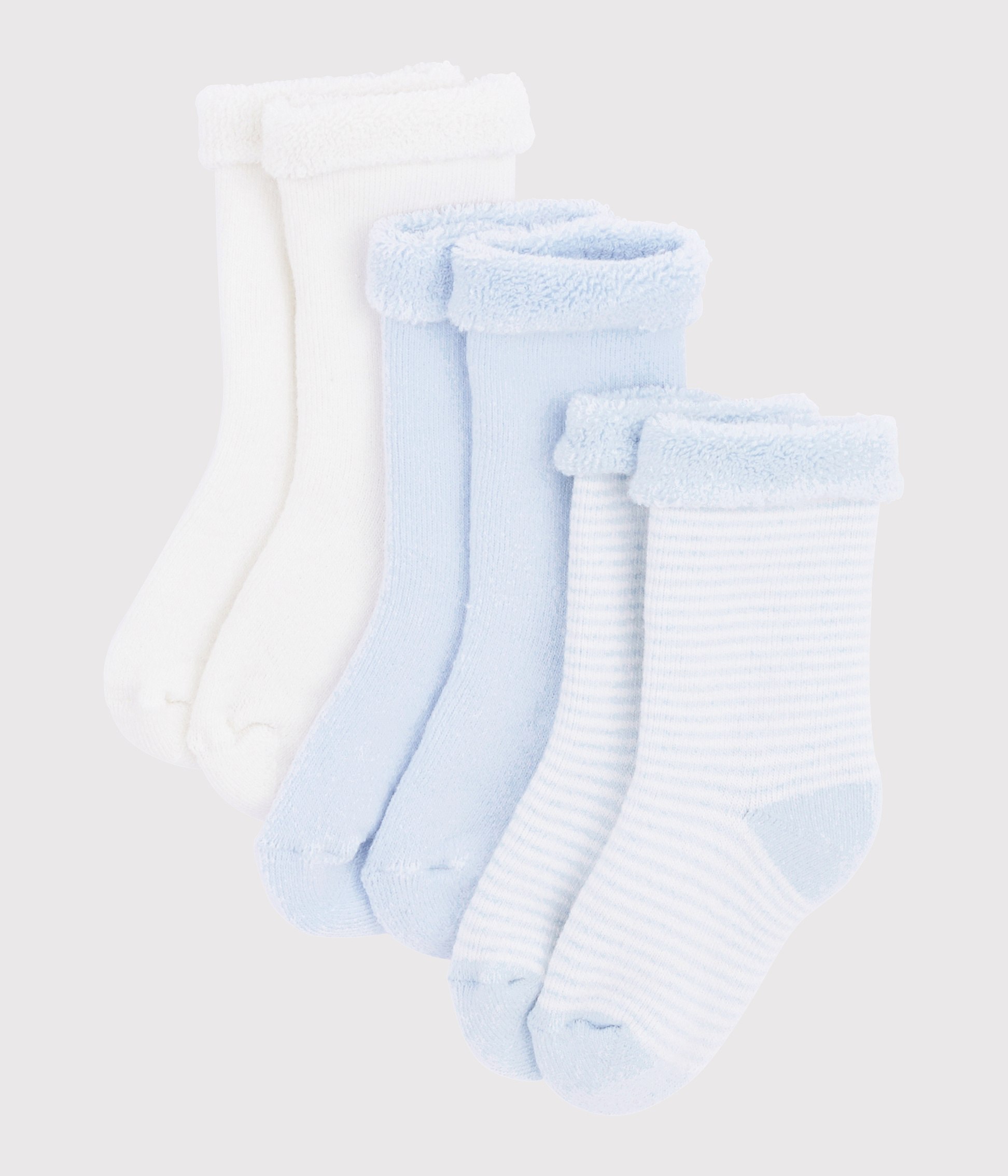Knitted Babies' Socks - 3-Piece Set