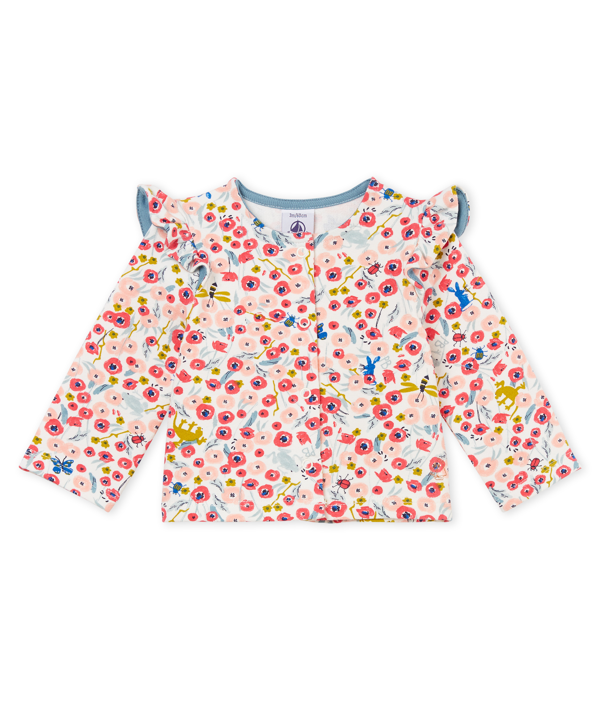 Baby girls' printed knit cardigan