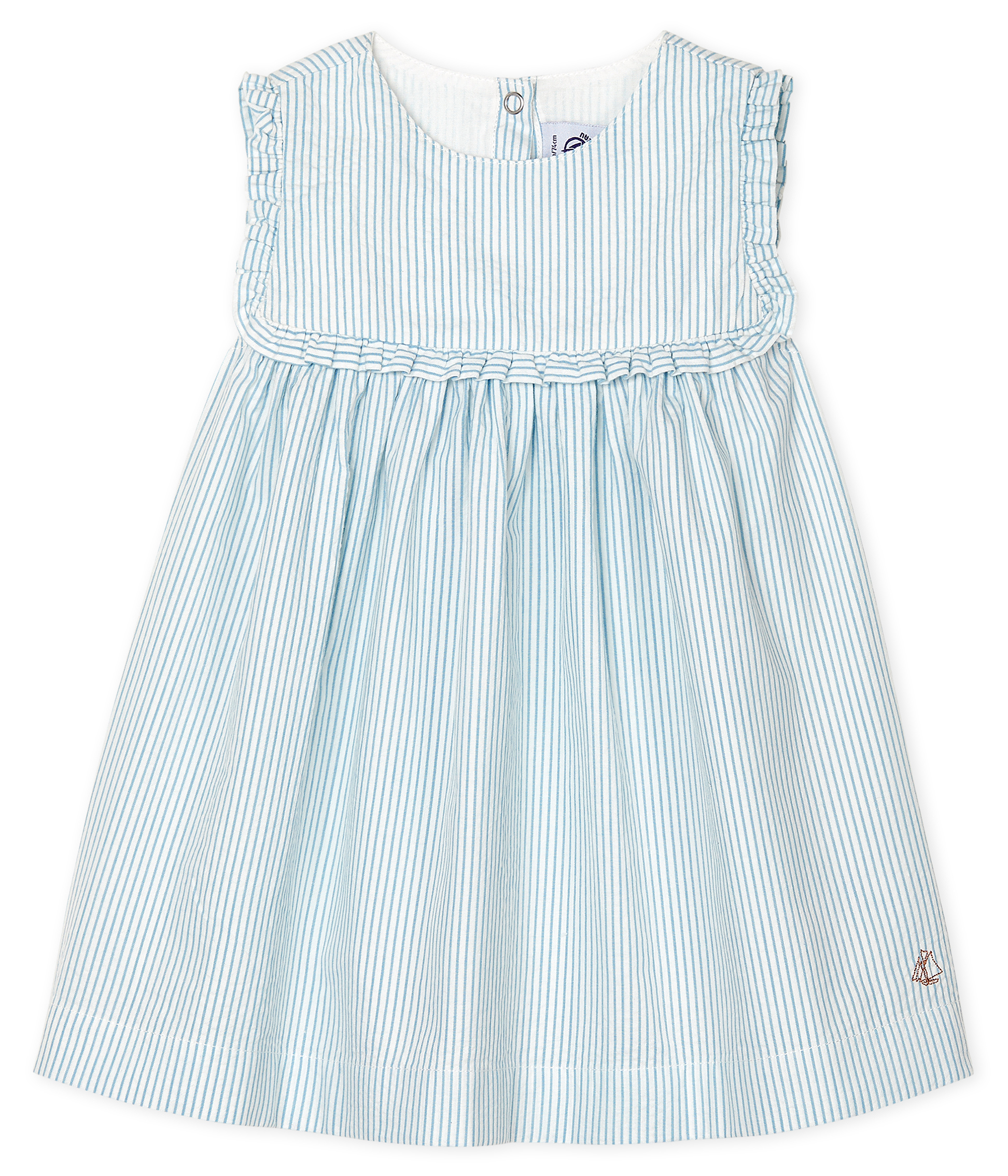 Baby Girls' Sleeveless Striped Dress