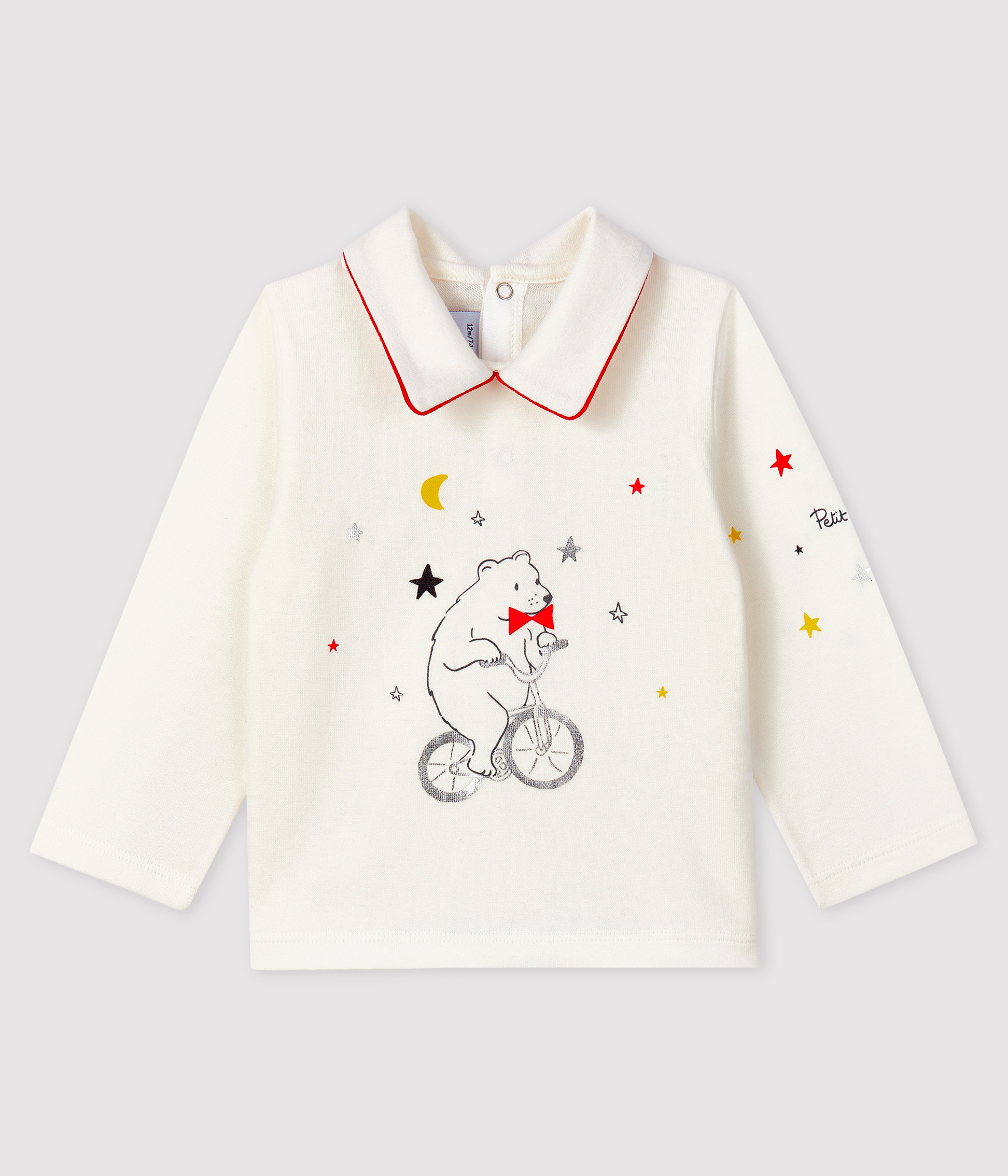 Baby boy's t-shirt with polo collar
