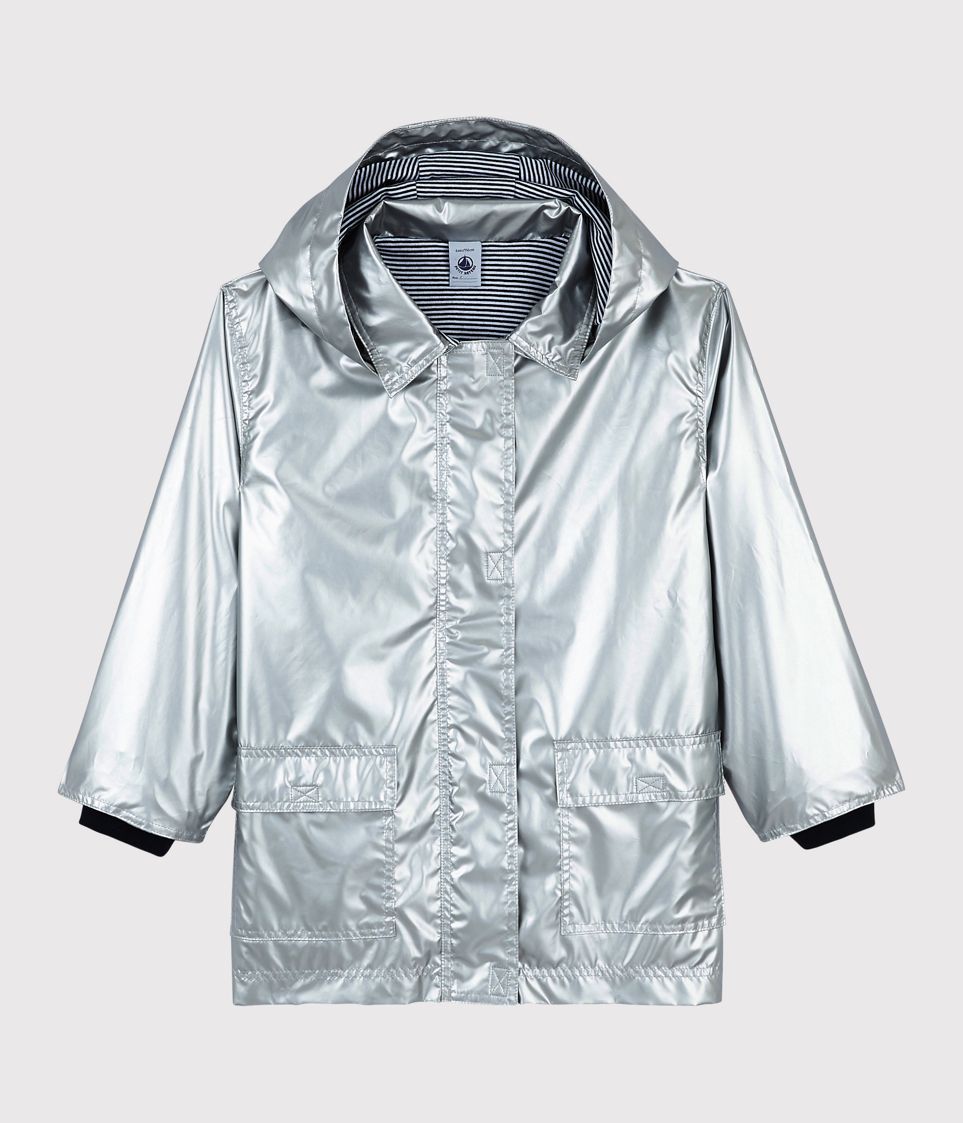 Girls/Boys' Silver Raincoat