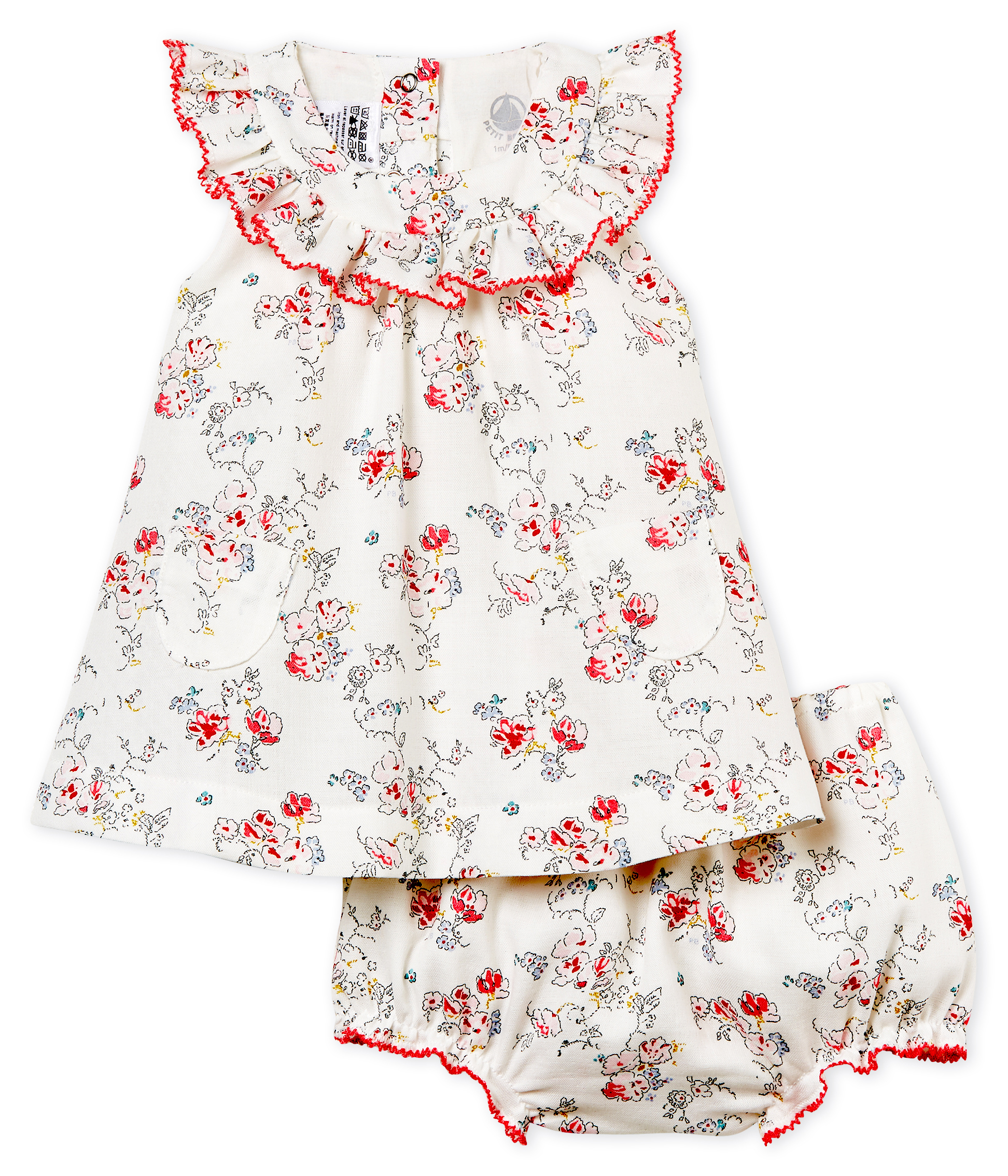 ea9aa59c8 Baby girls  printed dress and bloomers