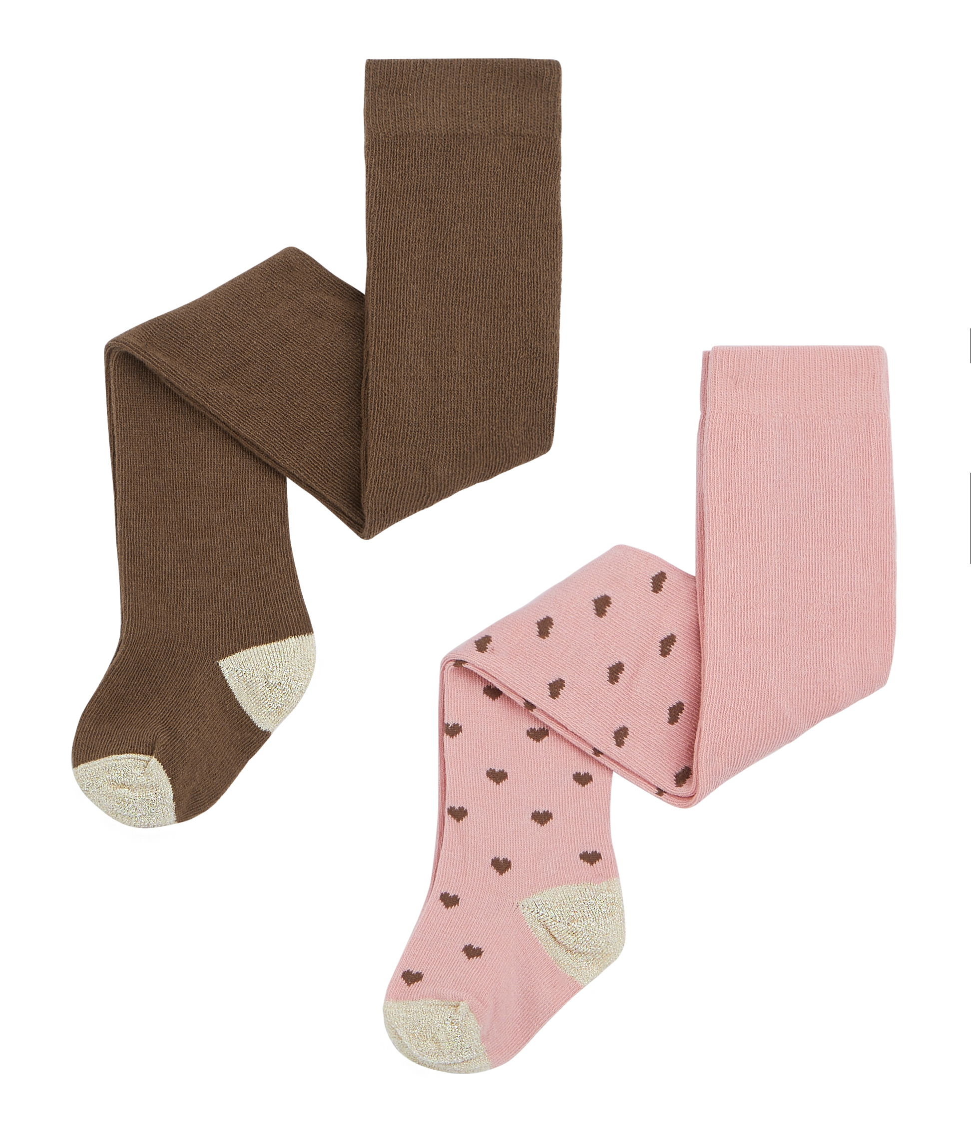 Petit Bateau Baby Girls Tights, Pack of 2