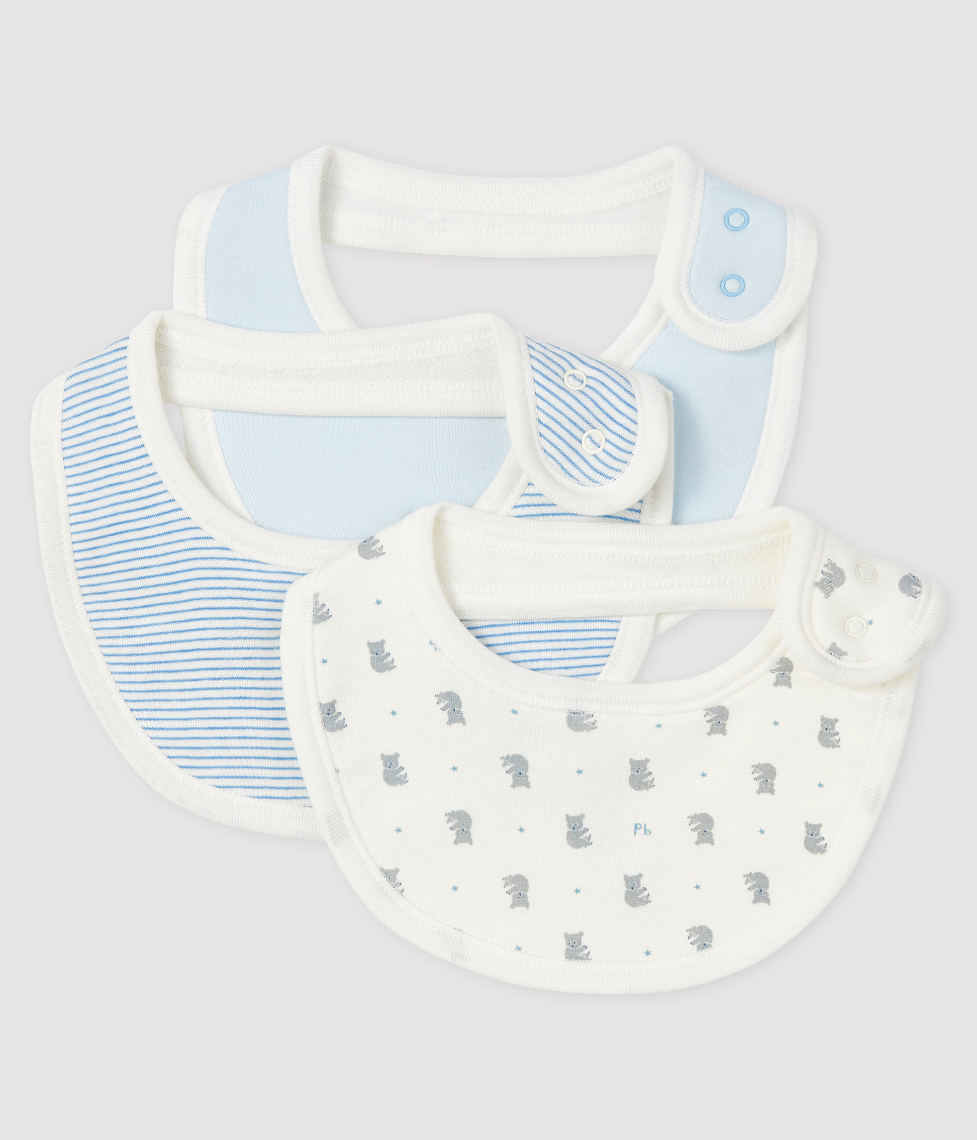 Baby Girls' Ribbed Bibs - 3-Piece Set