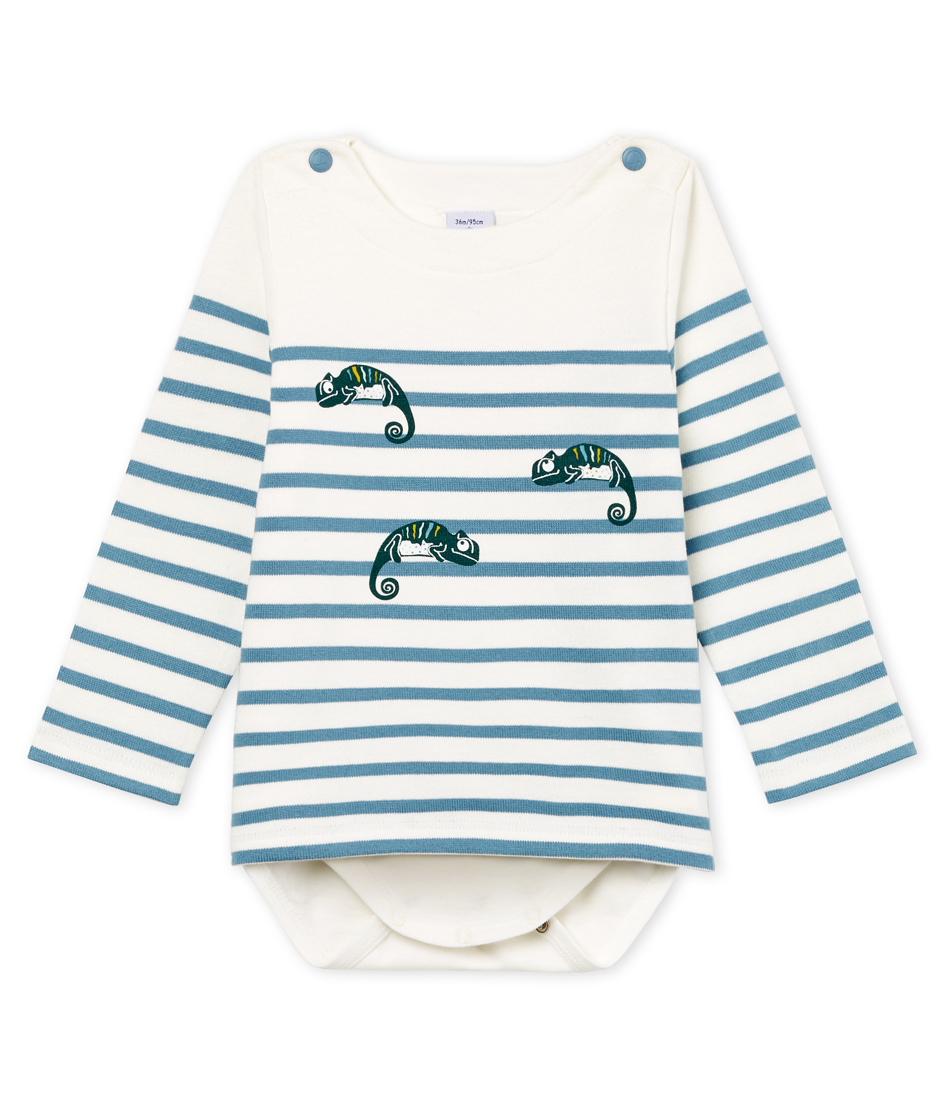 Baby boys' breton striped bodysuit