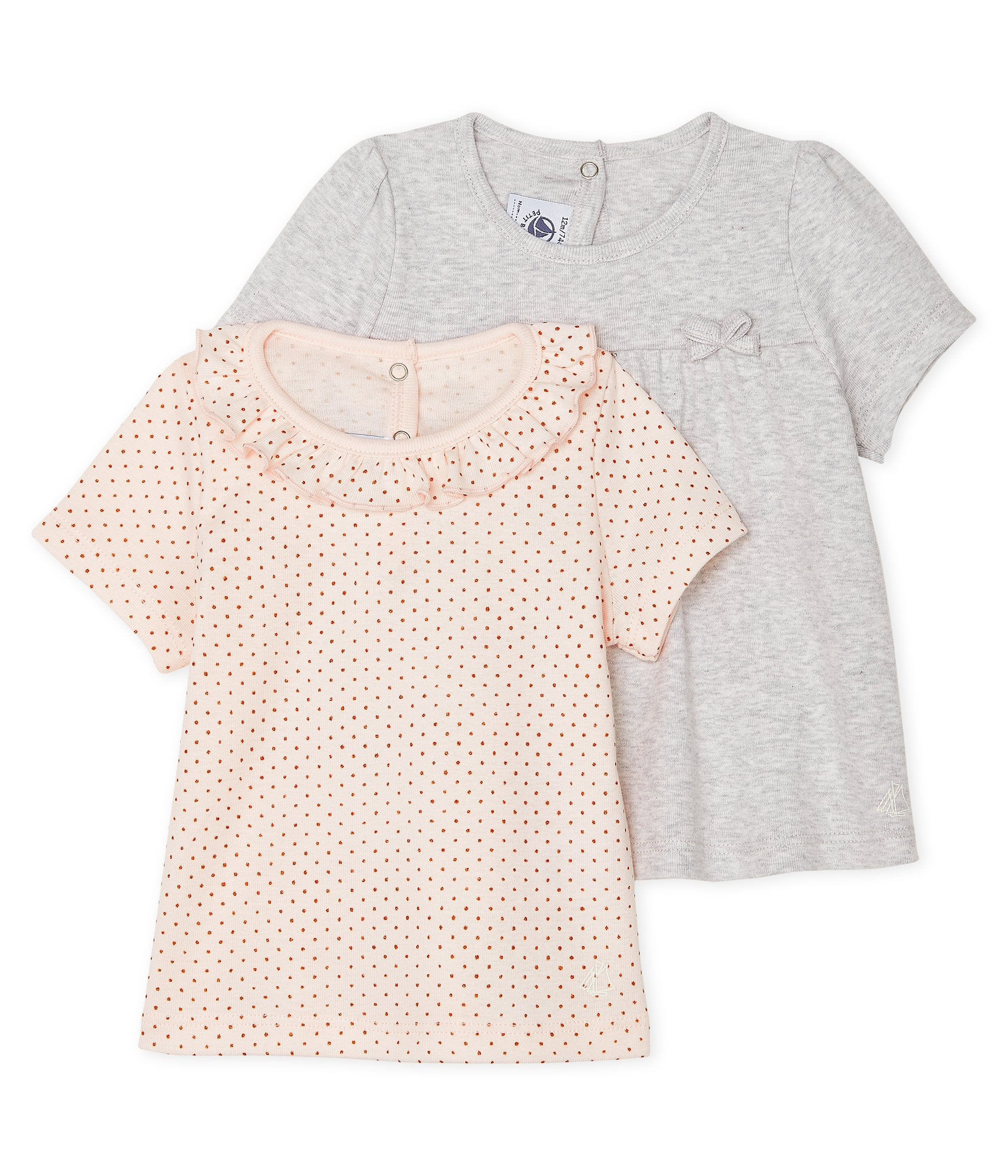 Set of 2 T-shirts for baby girls