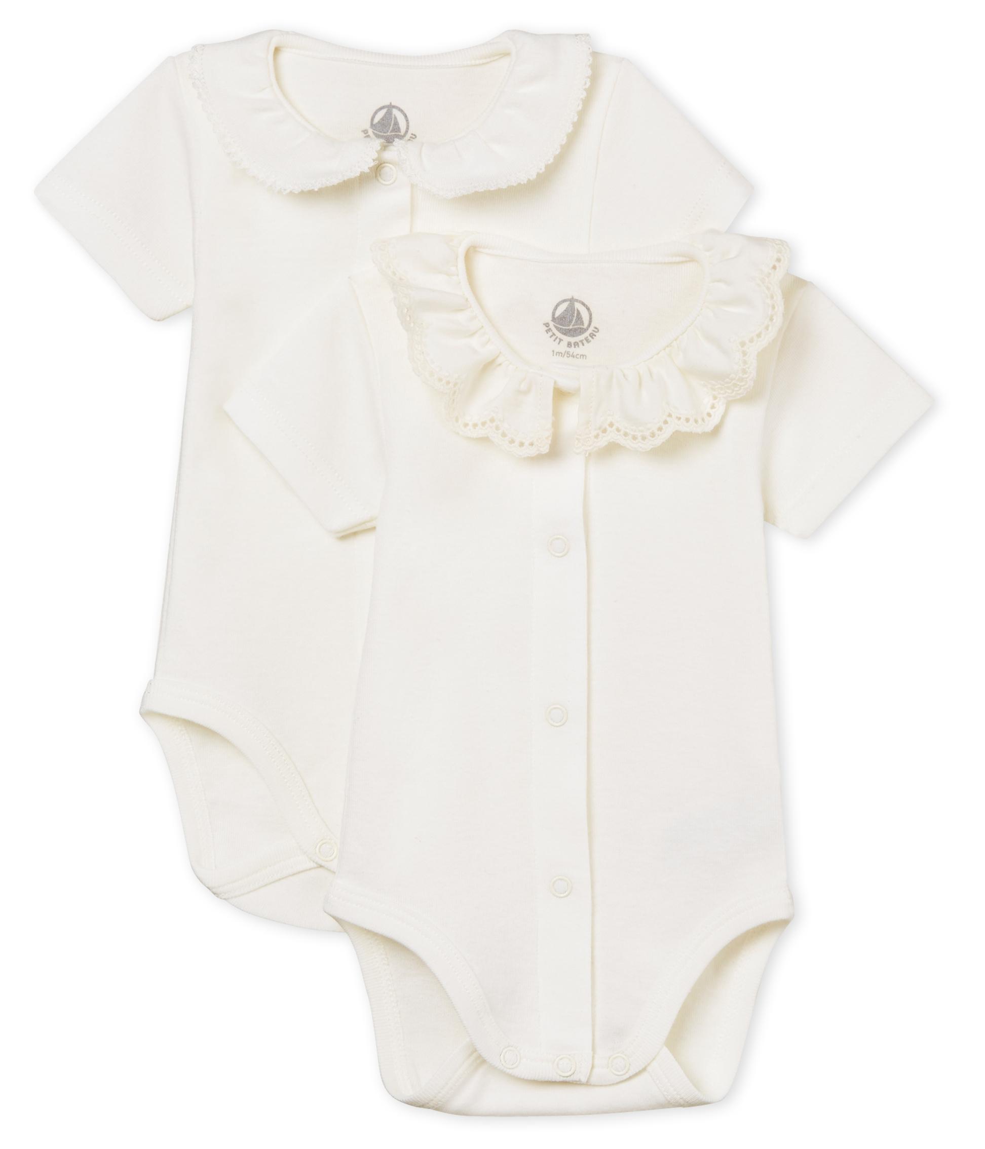 0895aa180 Baby girls' short-sleeved bodysuit - 2-piece set | Petit Bateau