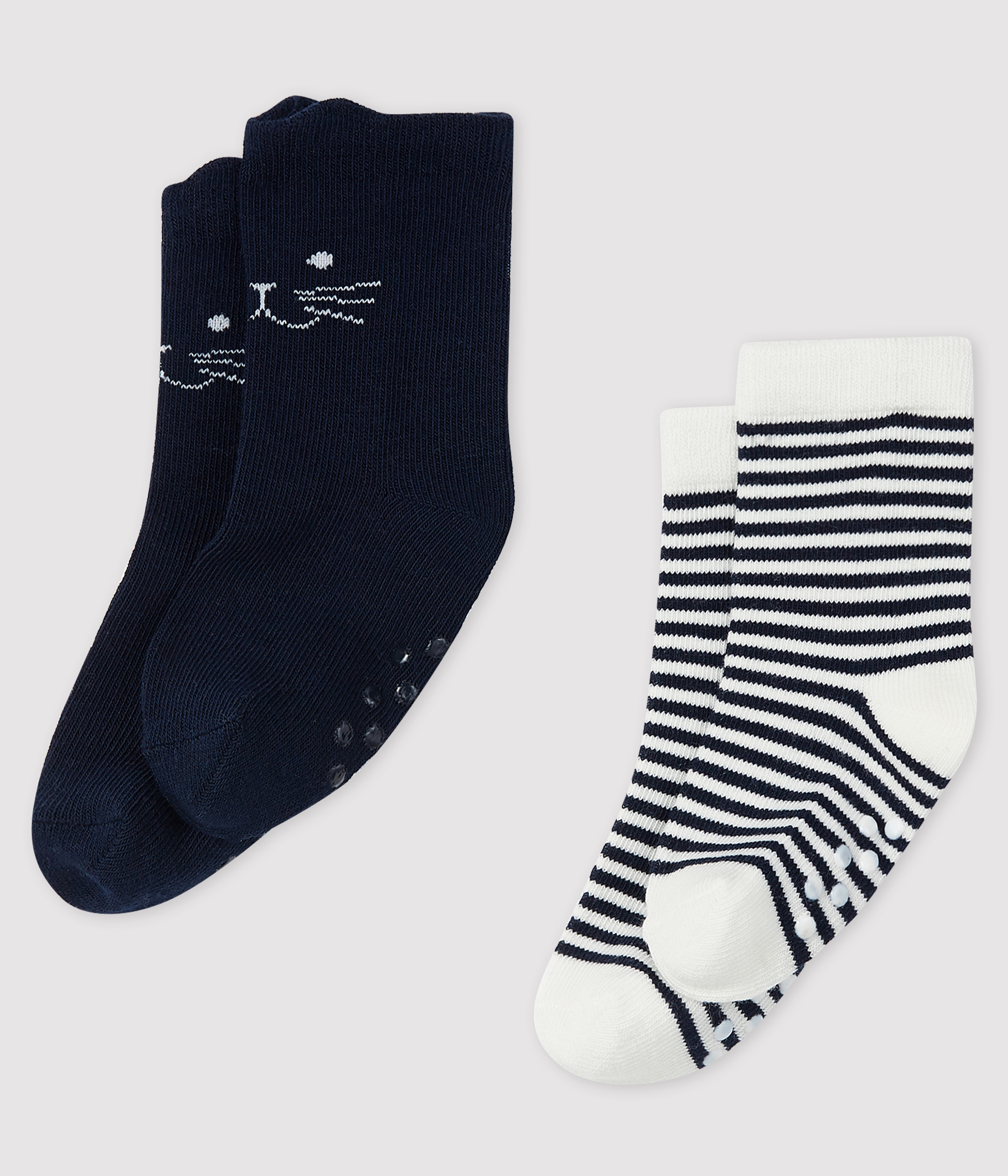 Pack of 2 pairs of socks for babies.