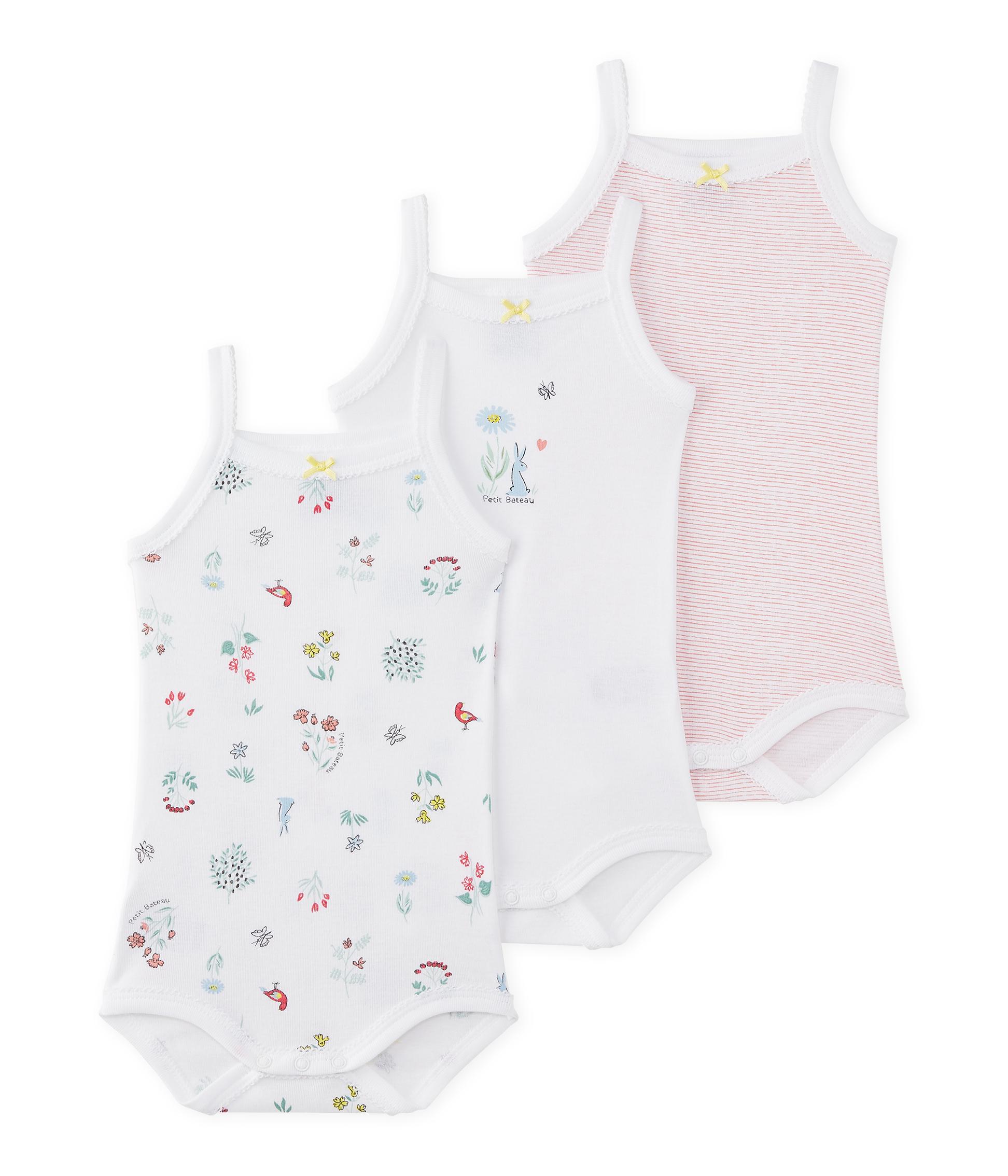 Petit Bateau Girls Vest Pack of 3