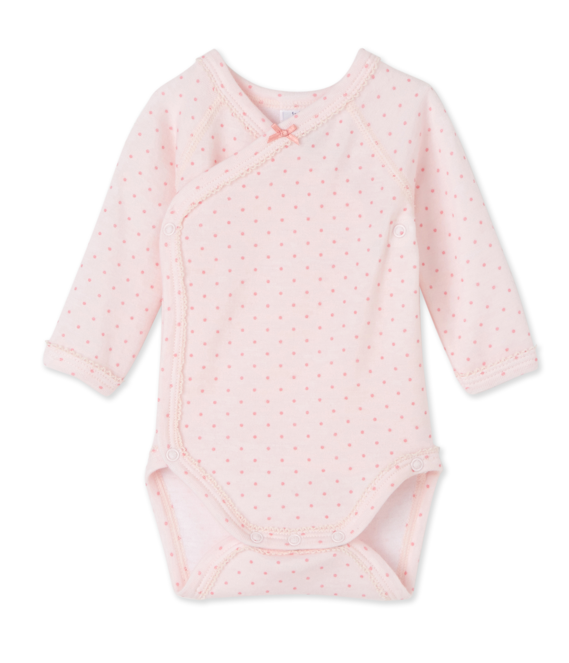 22368cf1b Newborn baby girls' long-sleeved bodysuit in wool and cotton | Petit Bateau