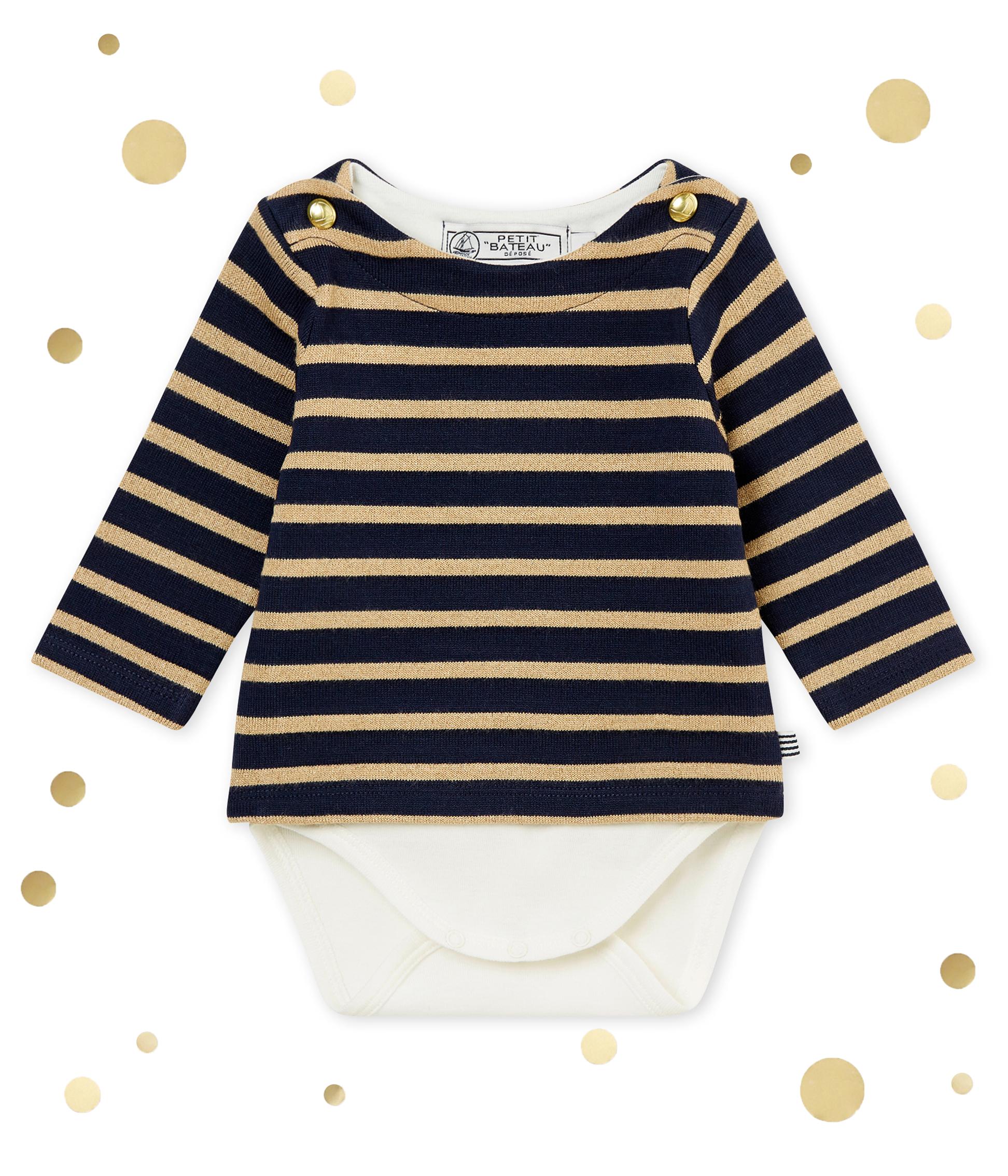 43af260e1c4 Baby girl's sailor striped body T-shirt