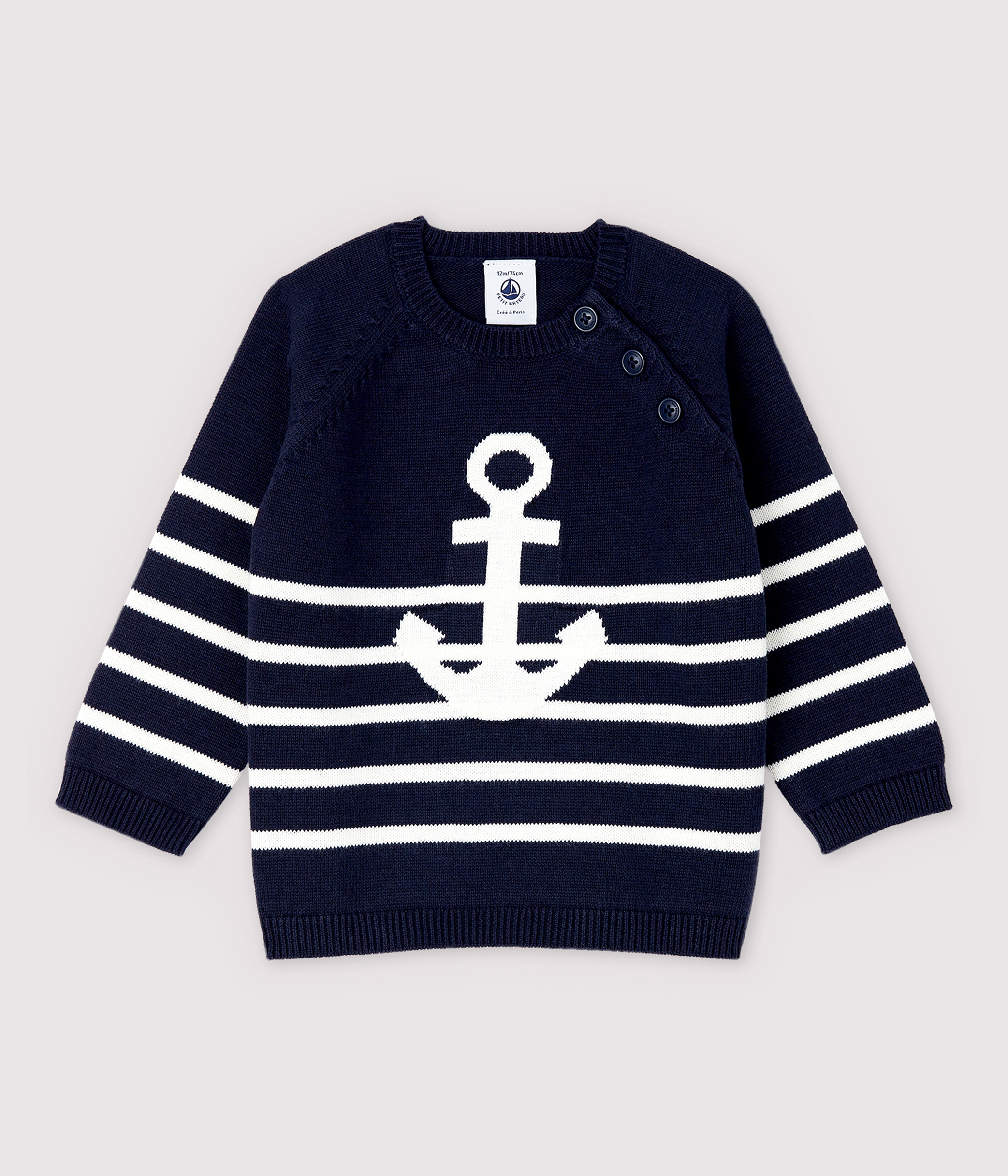 Baby Boys' Knit Cotton and Linen Blend Pullover