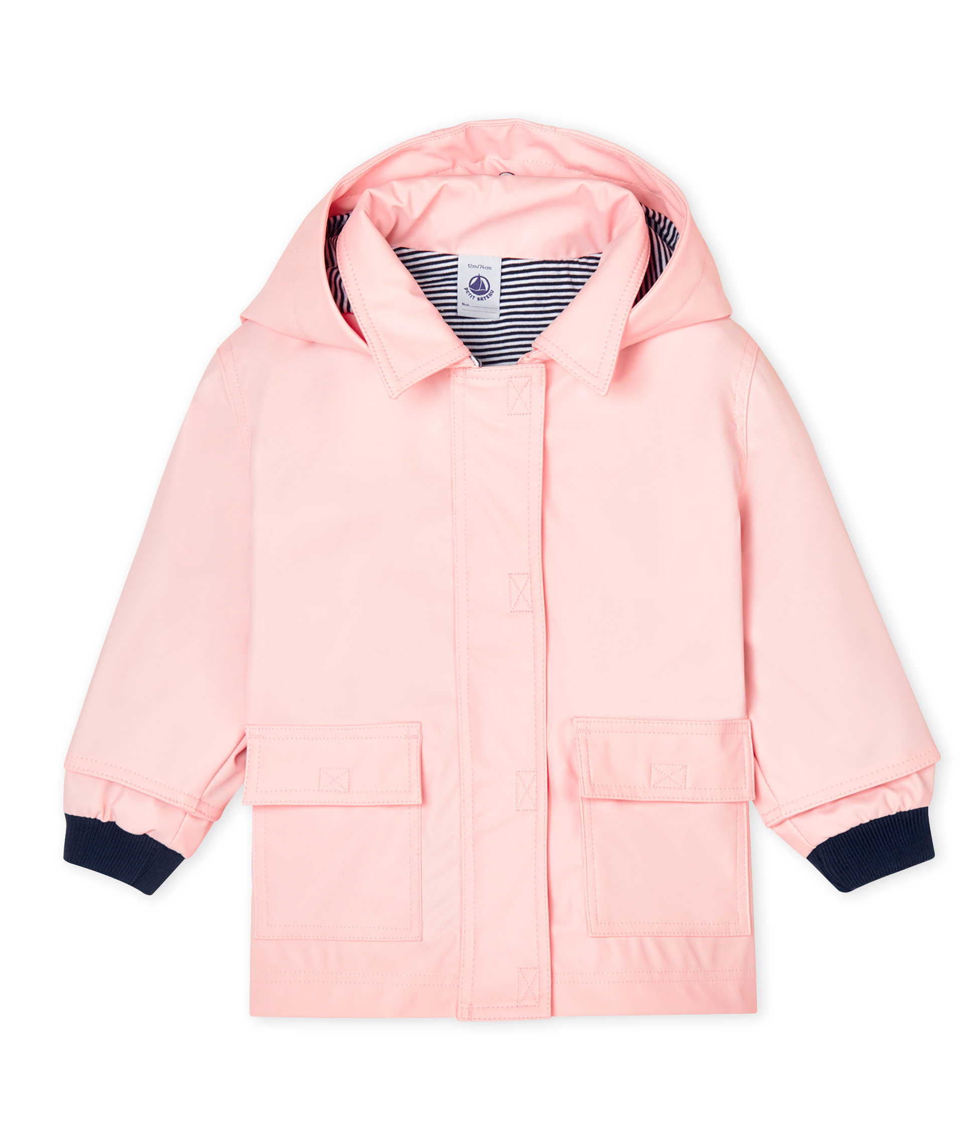 Iconic waxed coat for baby girls