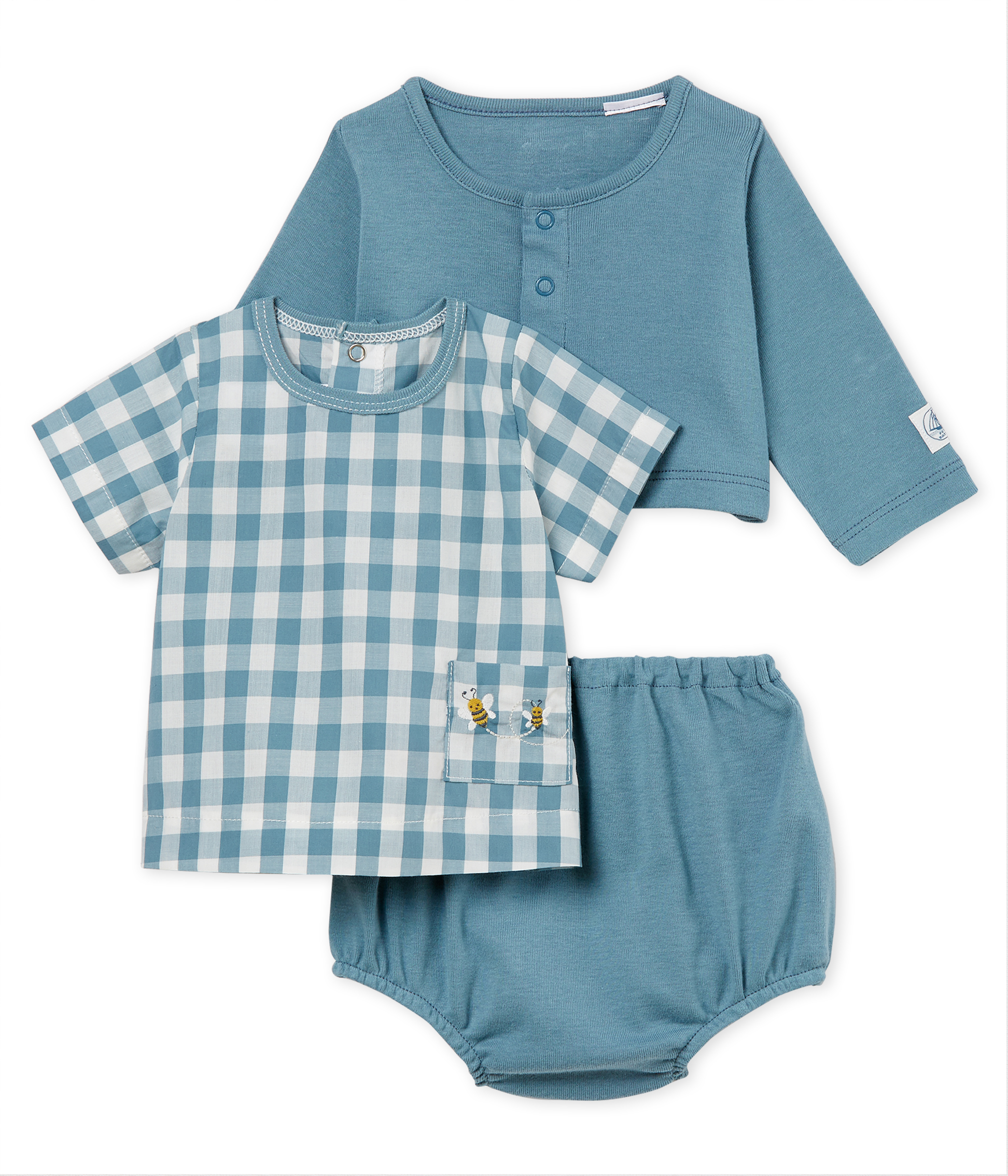 Baby boys' checked clothing - 3-piece set