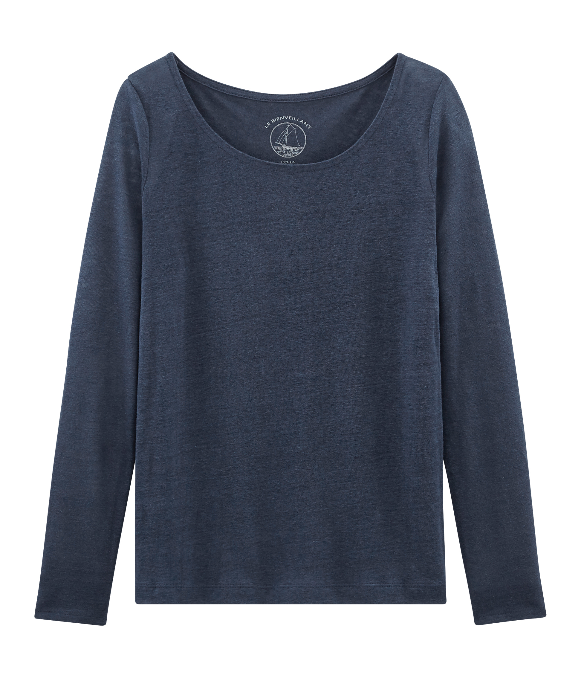 c896fa65a2 Tee-shirt manches longues femme en lin | Petit Bateau