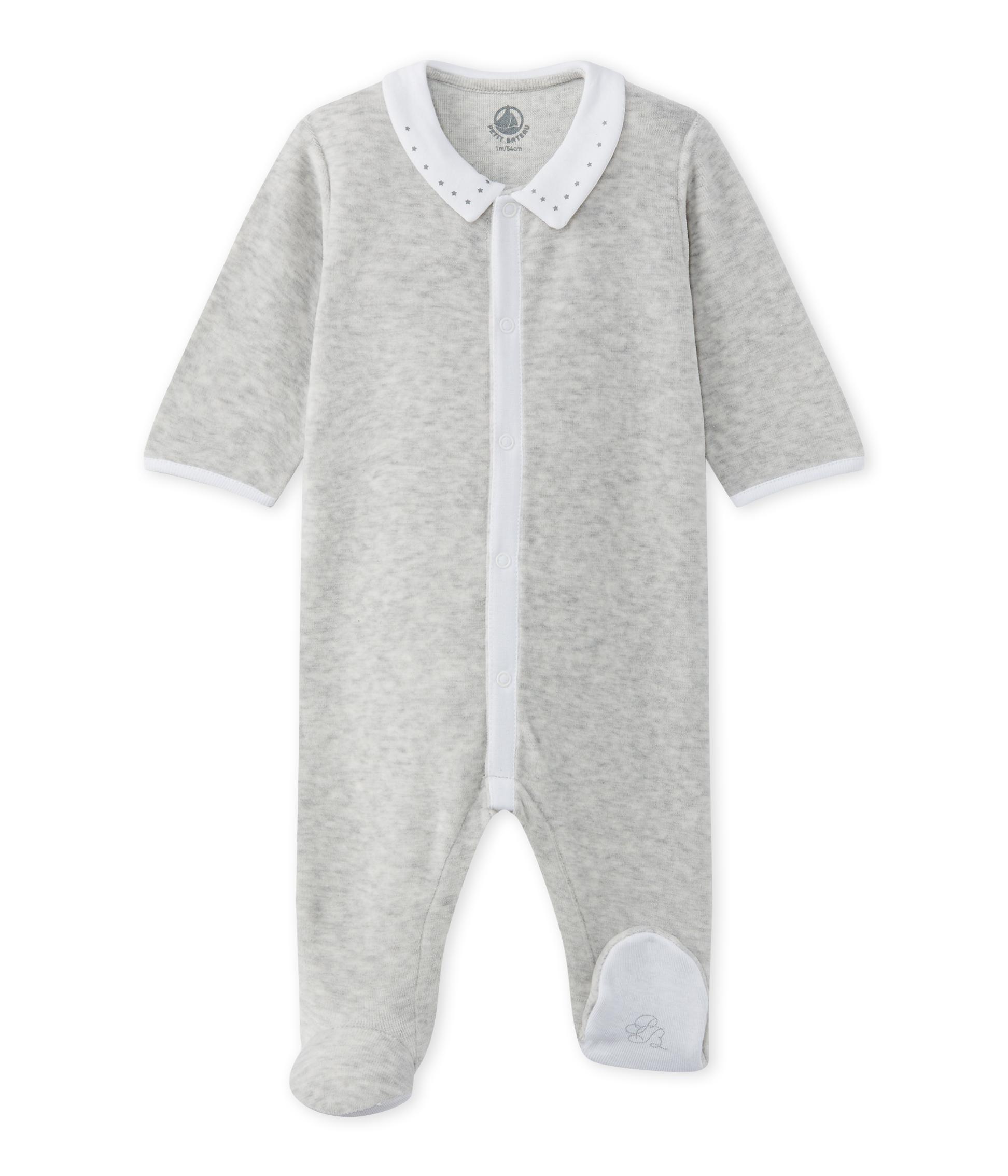 ac0832f04 Baby's unisex velour sleepsuit