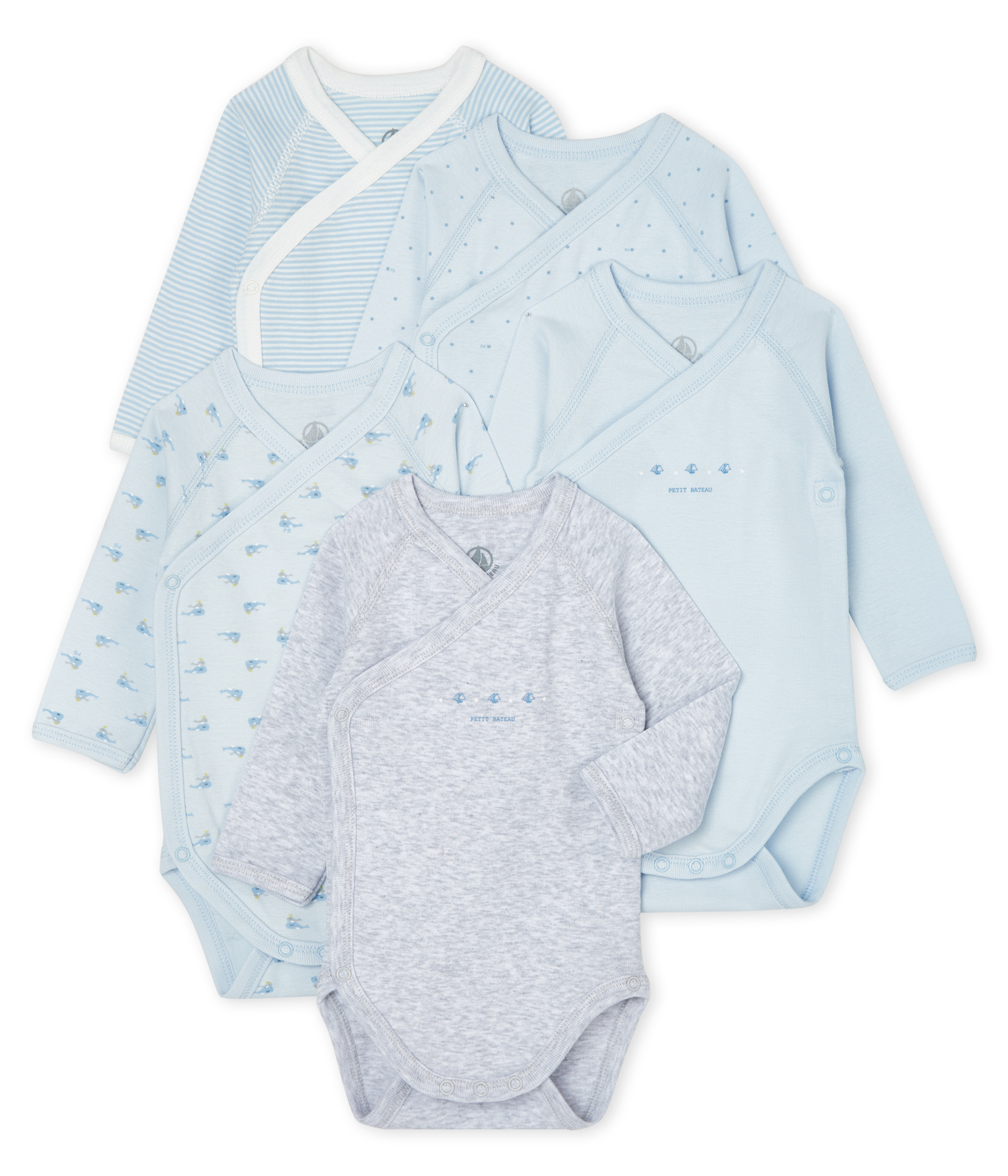 Newborn Babies' Long-Sleeved Bodysuit - 5-Piece Set