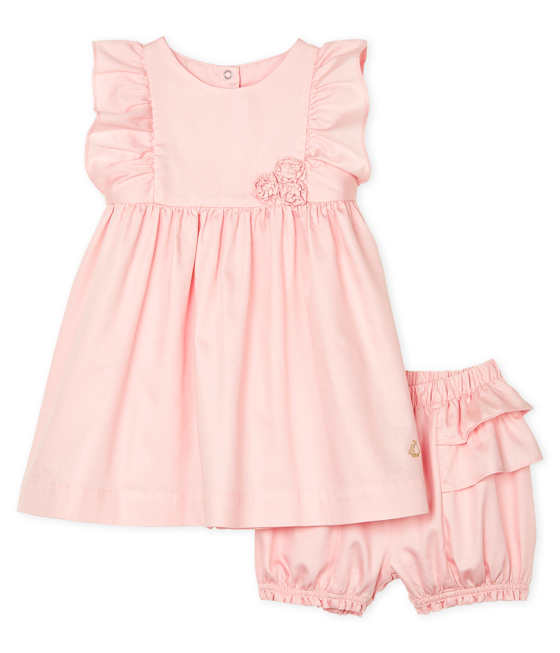 Baby Girls' Satin Dress and Bloomers