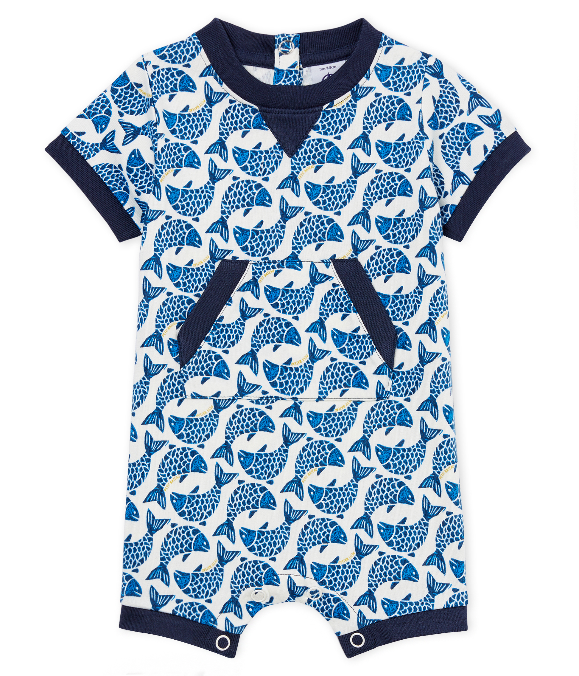 Baby boys' Shortie in light printed jersey